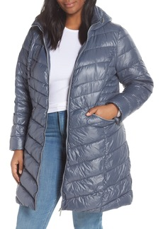 Halogen® Hooded Puffer Jacket (Plus Size)