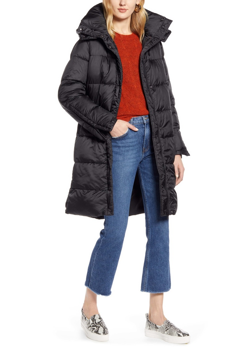 Halogen® Hooded Puffer Jacket with Removable Hood