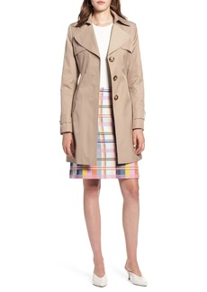 Halogen® Hooded Trench Coat (Regular & Petite)