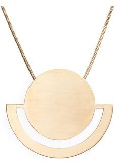 Halogen® Horizon Disc Pendant Necklace