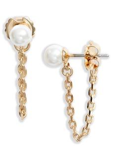 Halogen® Imitation Pearl Chain Drop Earrings