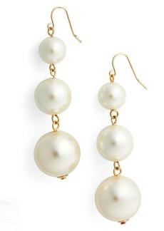 Halogen® Imitation Pearl Drop Earrings