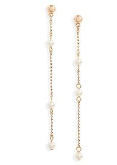 Halogen® Imitation Pearl Linear Drop Earrings