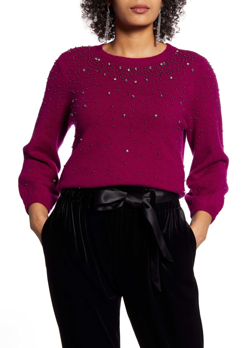 Halogen® Jeweled Sweater