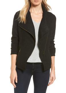 Halogen® Knit Moto Jacket (Regular, Petite & Plus Size)