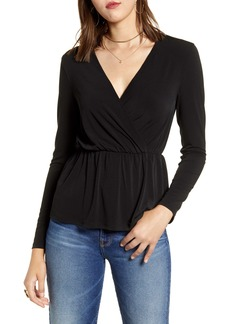 Halogen® Knit Surplice Top