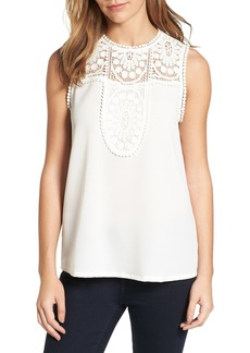 Halogen® Lace & Crepe Top (Regular & Petite)