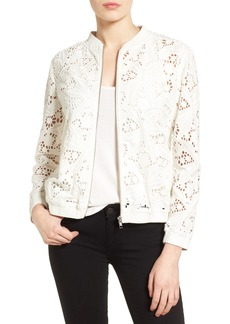 Halogen® Lace Bomber Jacket (Regular & Petite)