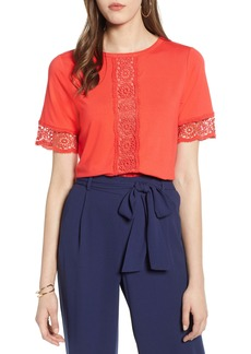 Halogen® Lace Inset Top