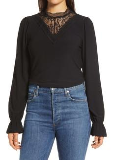 Halogen® Lace Knit Top