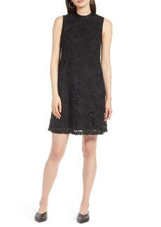 Halogen® Lace Overlay Sleeveless Shift Dress (Regular & Petite)