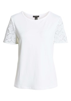 Halogen® Lace Sleeve Top