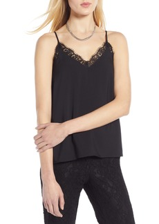 Halogen® Lace Trim Camisole (Regular & Petite)