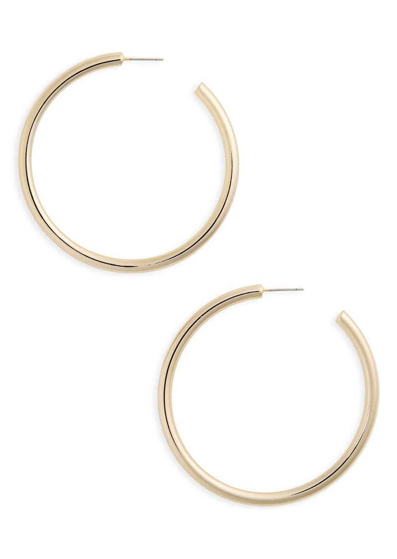 Nordstrom Large Sleek Tube Hoop Earrings