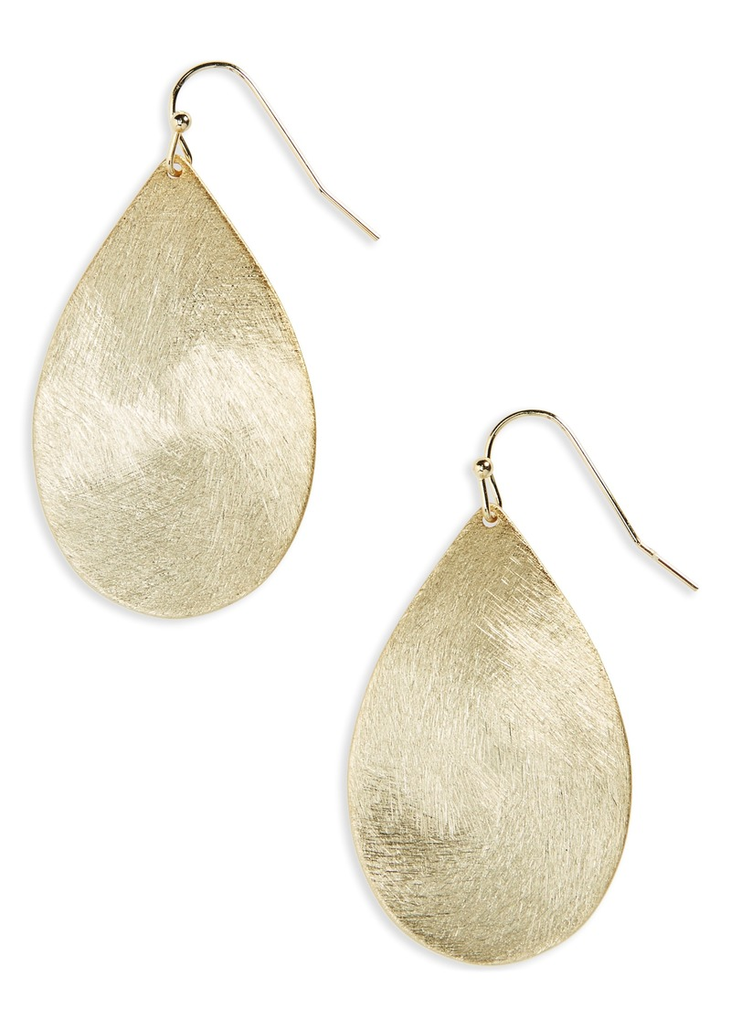 Halogen® Large Brushed Teardrop Earrings