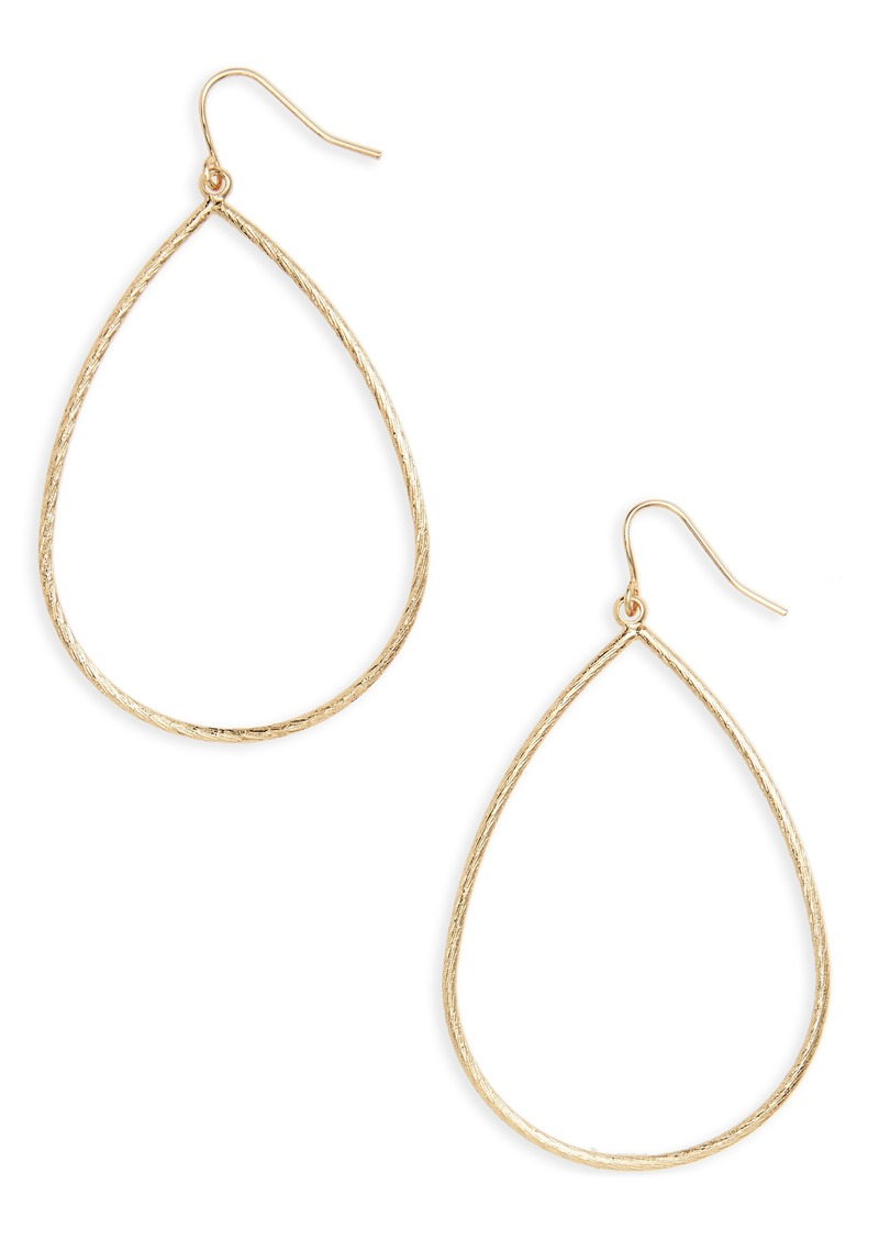 Halogen® Large Textured Teardrop Earrings
