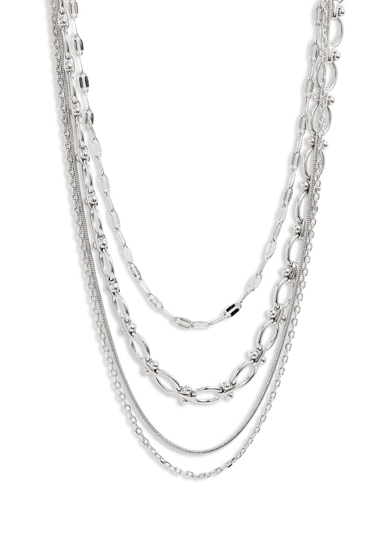 Halogen® Layered Luxe Multistrand Chain Necklace
