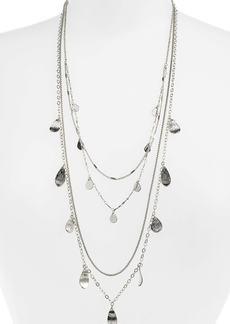 Halogen® Layered Petal Long Necklace