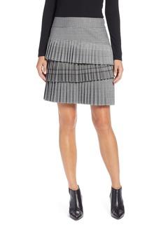 Halogen® Layered Pleated Skirt (Regular & Petite)