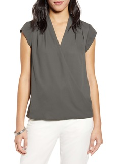 Halogen® Layered Wrap Front Top