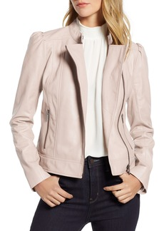 Halogen® Leather Jacket (Regular & Petite)
