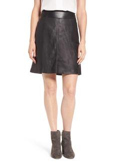 Halogen® Leather Skirt