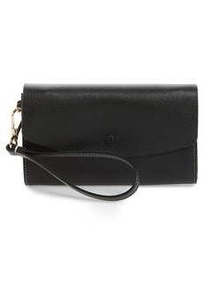 Halogen® Leather Wristlet