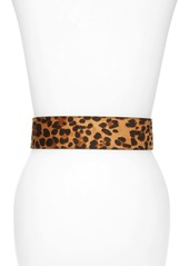 Halogen® Leopard Print Belt