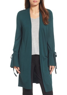 Halogen® Lightweight Tie Sleeve Cardigan (Regular & Petite)