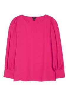 Halogen® Long Sleeve Blouse (Regular & Petite)