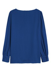 Halogen® Long Sleeve Blouse (Regular & Petite)