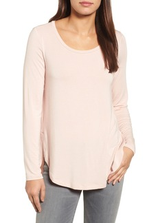 Halogen® Long Sleeve Knit Tunic (Regular & Petite)