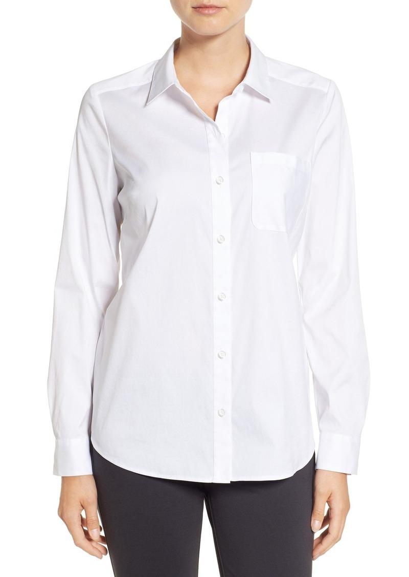 Halogen® Long Sleeve Poplin Shirt