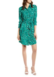 Halogen® Long Sleeve Shirtdress