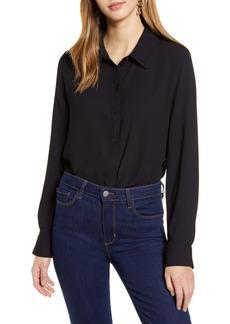 Halogen® Long Sleeve Woven Shirt