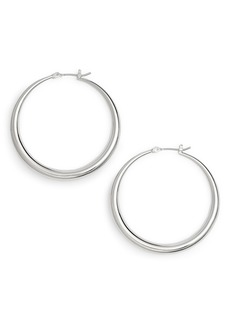 Halogen® Medium Graduated Tube Hoop Earrings