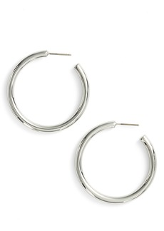 Halogen® Medium Sleek Tube Hoop Earrings