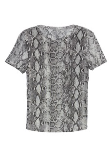 Halogen® Mesh Short Sleeve Top