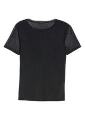 Halogen® Mesh Short Sleeve Top