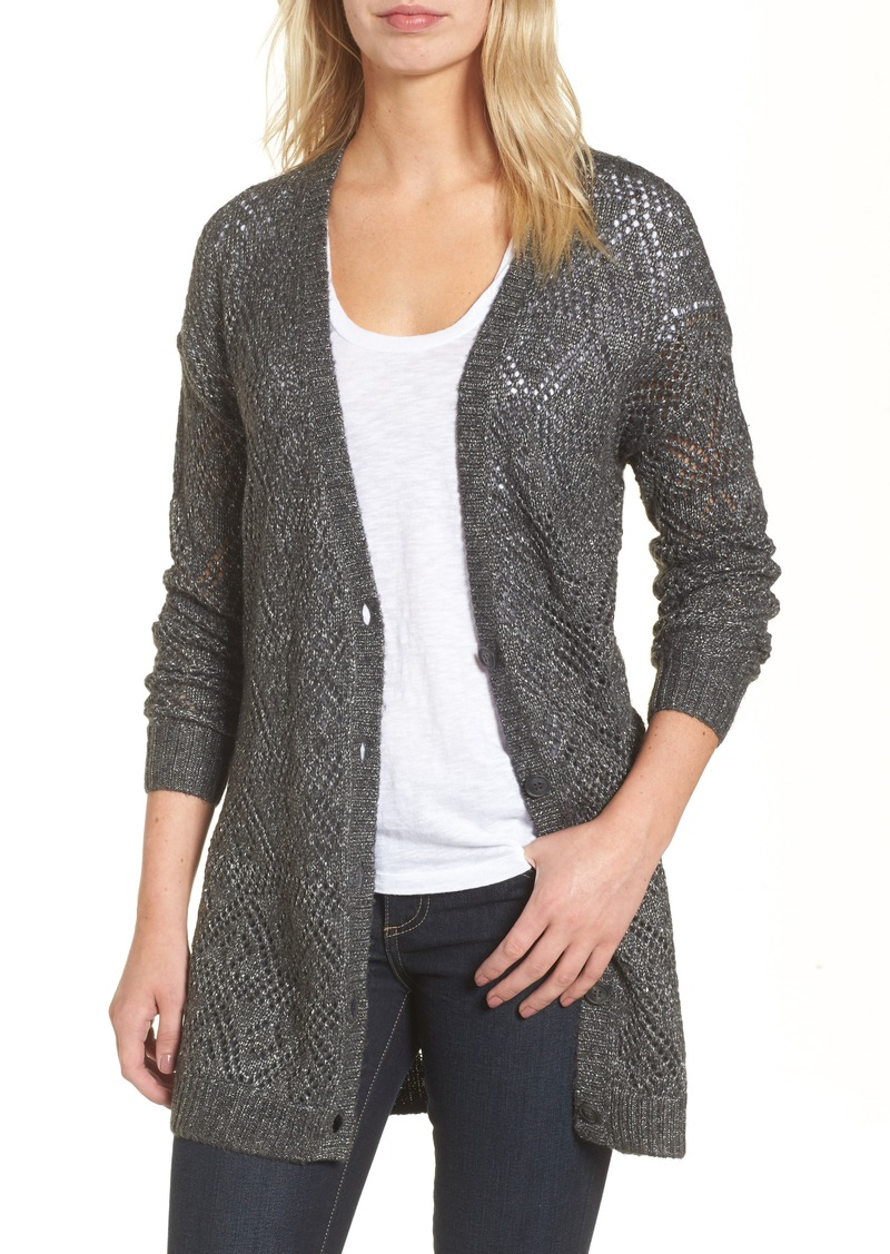 Halogen Halogen® Metallic Pointelle Cardigan | Sweaters - Shop It ...