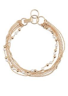 Halogen® Mixed Chain Imitation Pearl Bracelet