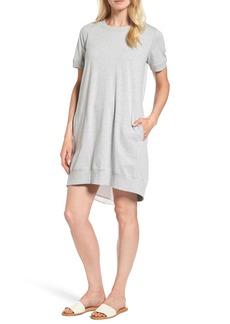 Halogen® Mixed Media Shift Dress (Regular & Petite)
