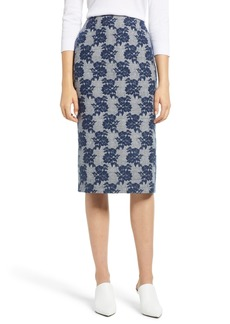 Halogen® Mixed Pattern Pencil Skirt (Regular & Petite)