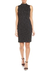 Halogen® Mock Neck Ponte Sheath Dress (Regular & Petite)