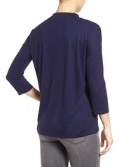 Halogen® Mock Neck Top (Regular & Petite)