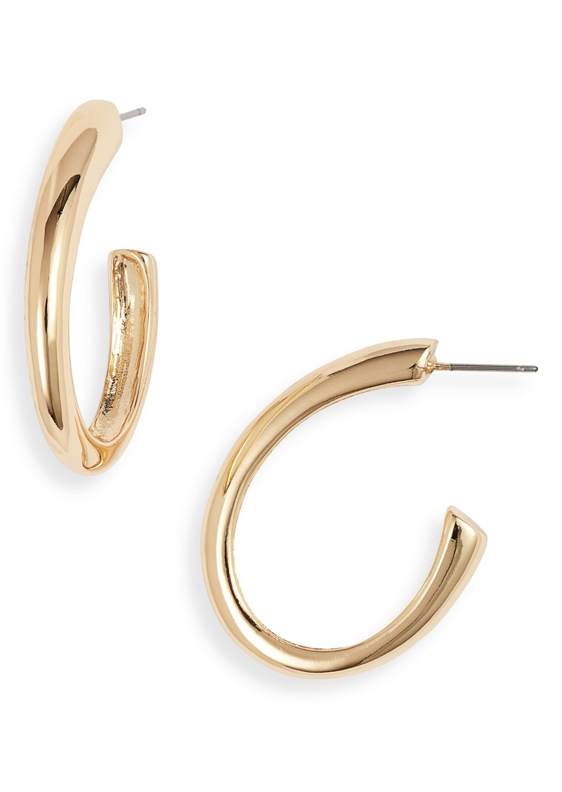 Halogen® Modern Oval Hoop Earrings