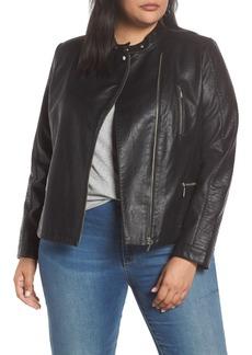 Halogen® Moto Jacket (Plus Size)