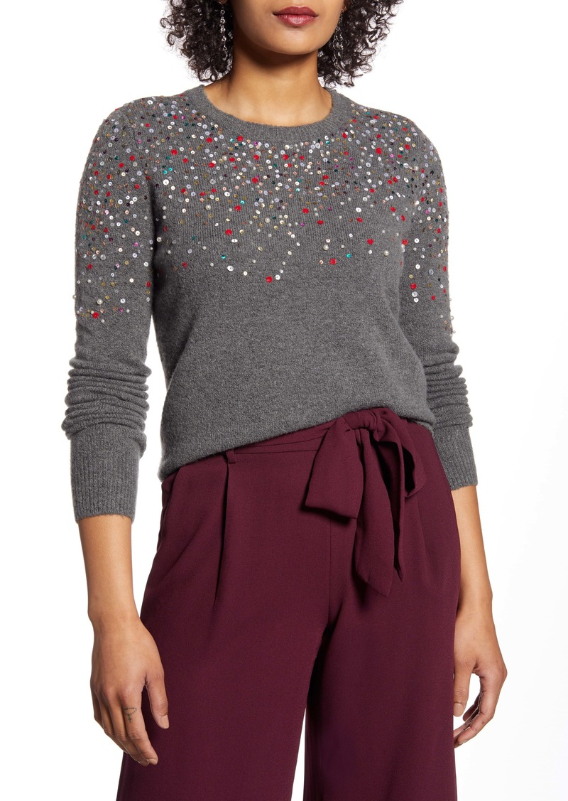 Halogen® Multicolor Sequin Sweater