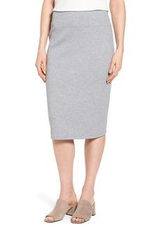 Halogen® Neoprene Knit Pencil Skirt (Regular & Petite)
