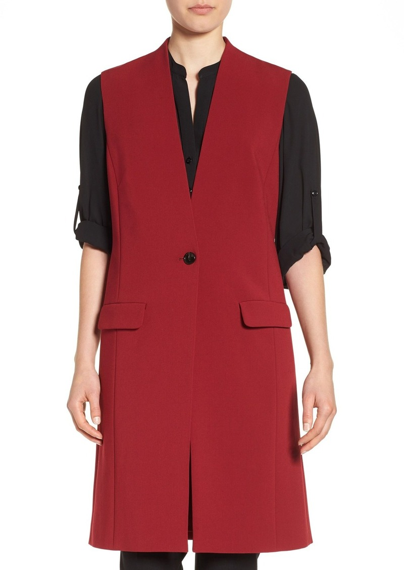 Halogen® One-Button Long Vest (Regular & Petite)